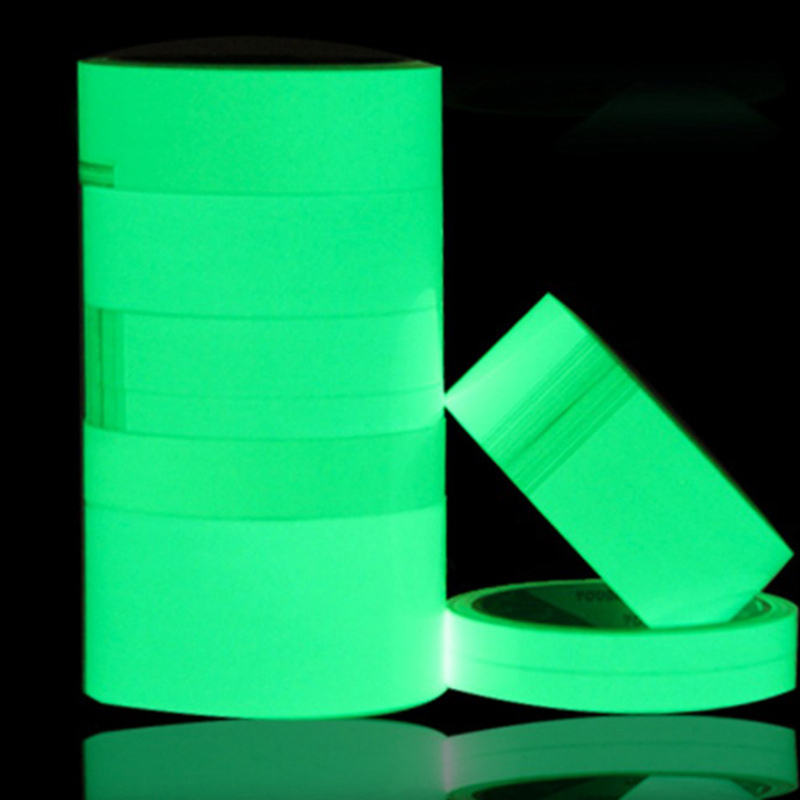 Image 4 - 3m 15mm Luminous Tape Self Adhesive PET Warning Tape Night Vision Glow In Dark Wall Sticker Fluorescent Emergency  Sticker A25-in Wall Stickers from Home & Garden