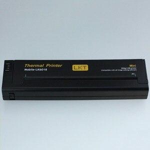 Image 4 - Mini lampka przenośna drukarka A4 mobilna biurowa drukarka termiczna + interfejs USB, mała kompaktowa drukarka termiczna 216mm do laptopa