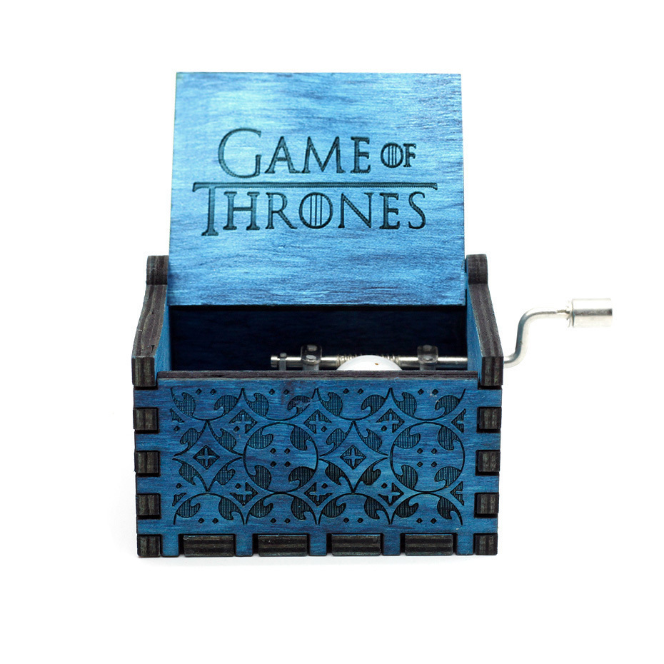 Новая музыкальная шкатулка Juego De Tronos Star Wars, игра в тронный замок в небо, деревянная музыкальная шкатулка, рождественский подарок - Цвет: Game of Throne