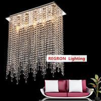 Home art decor LED crystal ceiling fixtures light for dining room modern ceiling light Plafon bar kitchen lighting Lampara Techo