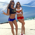 Sexy Girl Summer Super Heroes Superman Batman 3D Print Swimsuit Swimwear Women Beach Bathing Suit Casual Tops Shorts