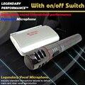 KTV microfone Com Fio ou Sem Fio 2em1 Handheld karaoke Microfone Mic Sistema Receptor de microfone sem fio