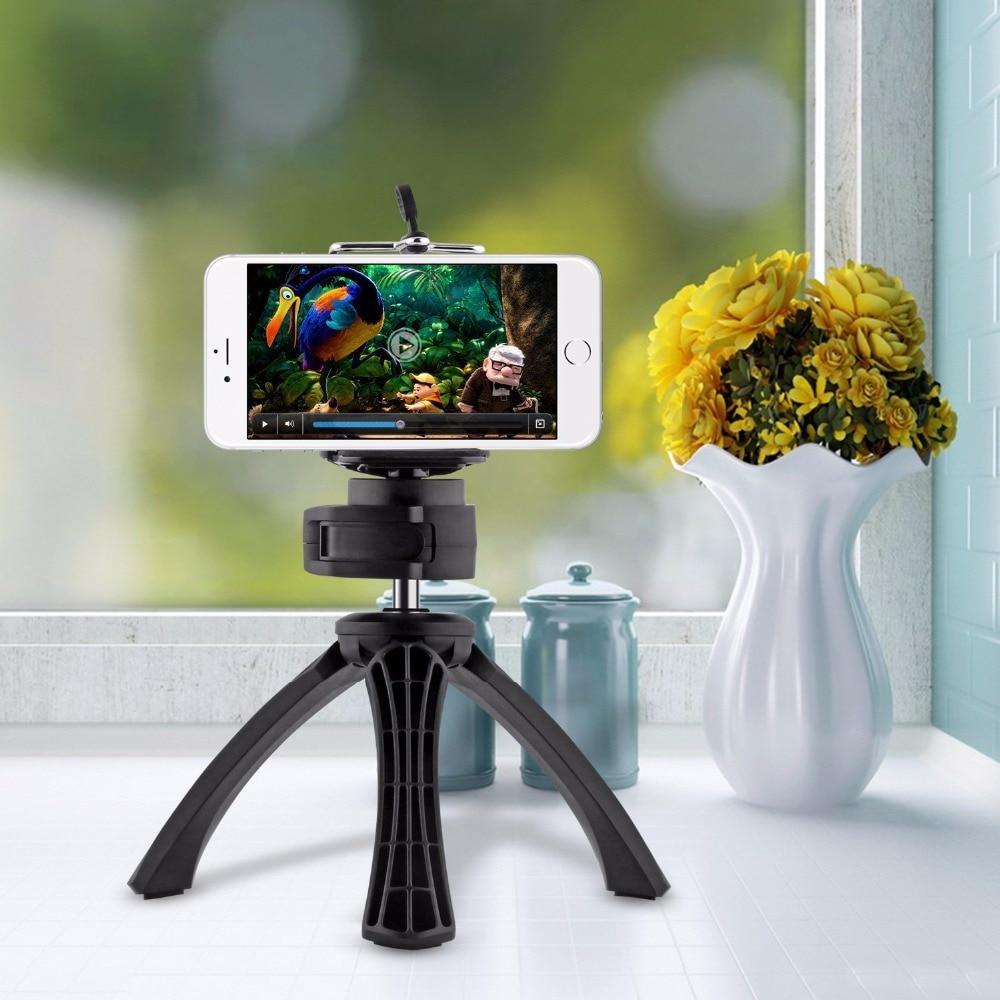 APEXEL 360 Градусов Вращения Мобильный Штатив + Телефон Клип Держатель для Apple iPhone и Камеры Gopro CL-JJ01Clip