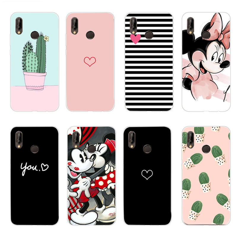 P20Lite Case On For Coque Huawei P20 Lite Case Silicon Soft Gel TPU Phone Cover For Huawei P20 Lite P 20 Pro P20Pro Capa Etui