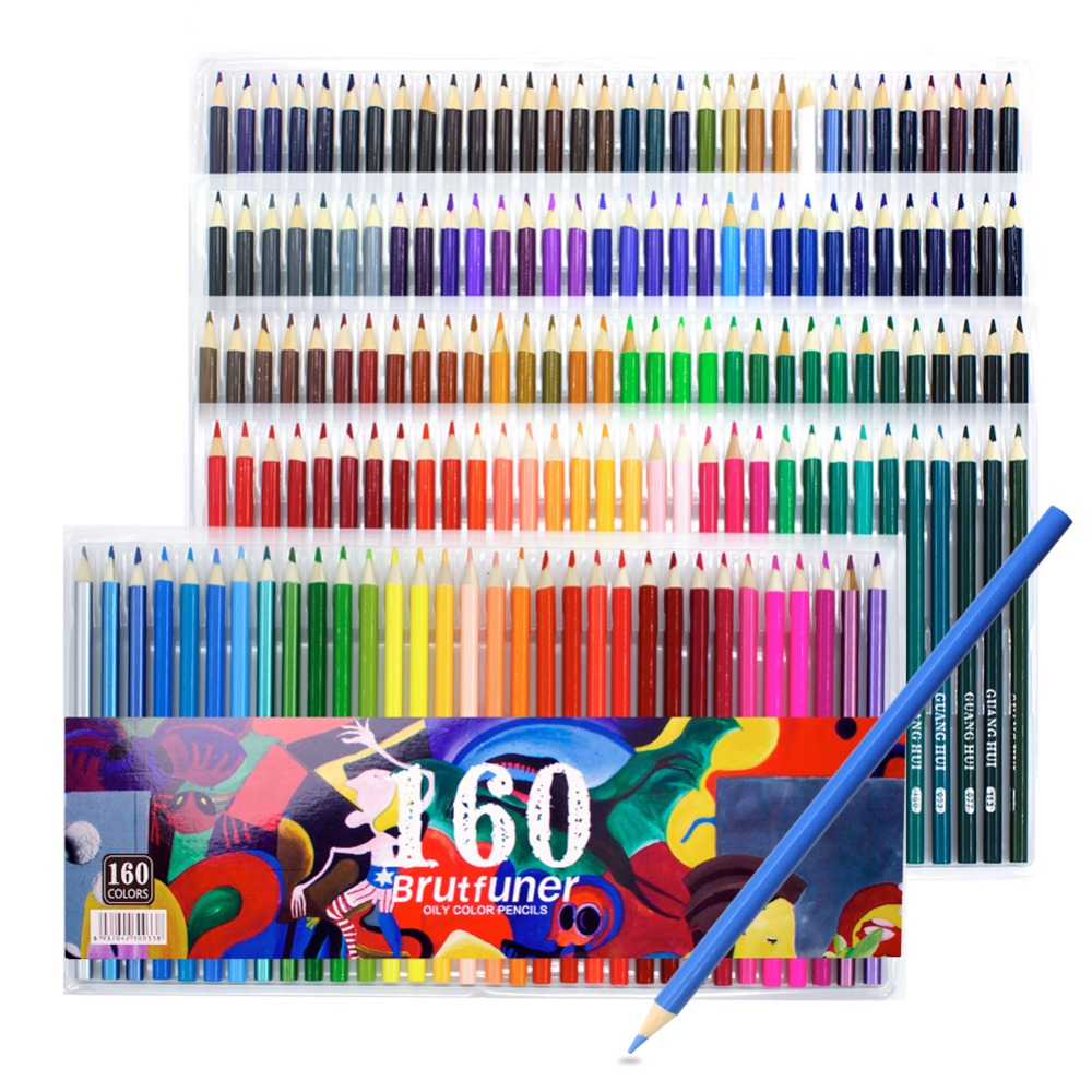 160-Color Colored Pencils,  Art Coloring Drawing Pencils for Adult Coloring Book, Sketch,Crafting Projects for Office Stationary