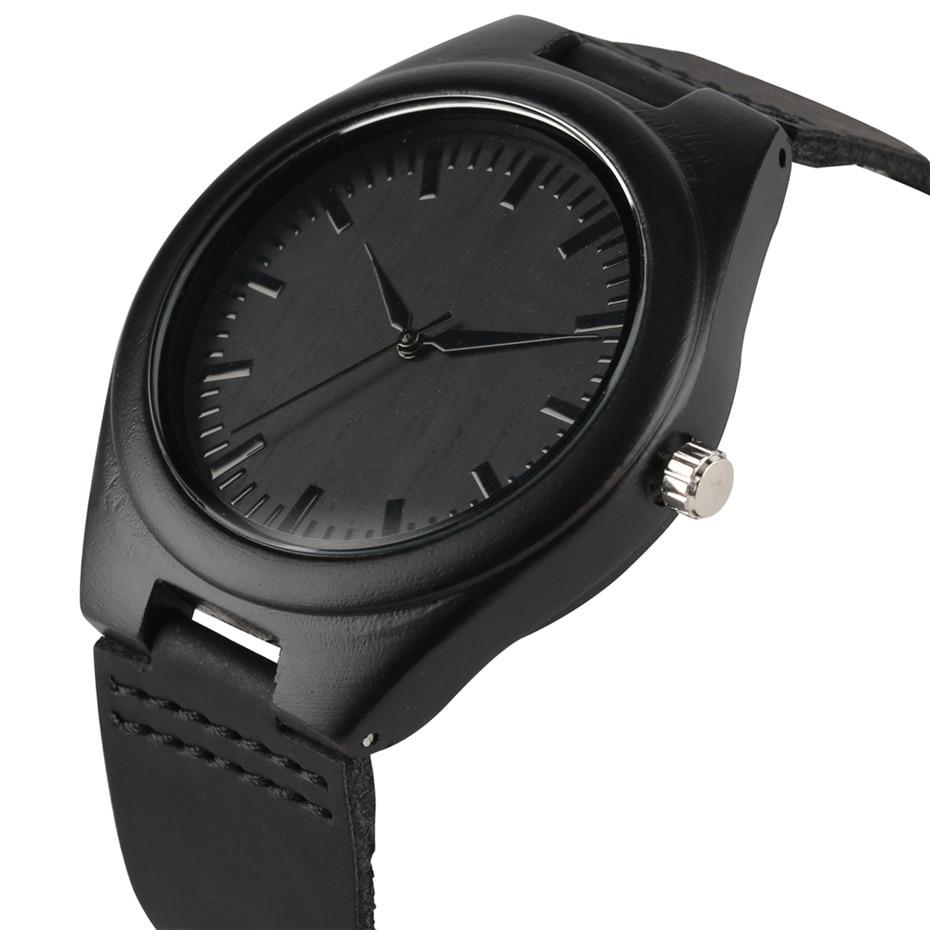 Natuur Houten Horloge 2018 Minimalistische Klok Bamboe Echt leer Mode Mannen Vrouwen Creatief Koel Mannelijk Vrouwelijk Geschenk Gratis verzending