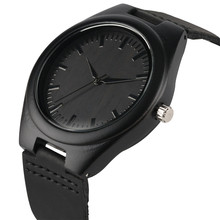 Nature Wooden Watch 2018 Minimalist Clock Bamboo Genuine Leather Fashion Men Wom