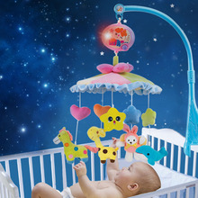 Baby Products Developmental Crib Toy Musical Cloth Mobile with a Arm and Simulated Blue Sky Background (Packaged with Gift Box)