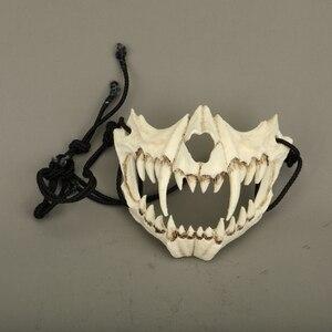 Image 1 - Yeni japon ejderha tanrı maske çevre dostu ve doğal reçine maskesi hayvan tema parti Cosplay hayvan maskesi el yapımı