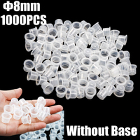 1000pcs Small White Plastic Tattoo Ink Pots Clean Pigment Holder Cup Cap Free Shipping