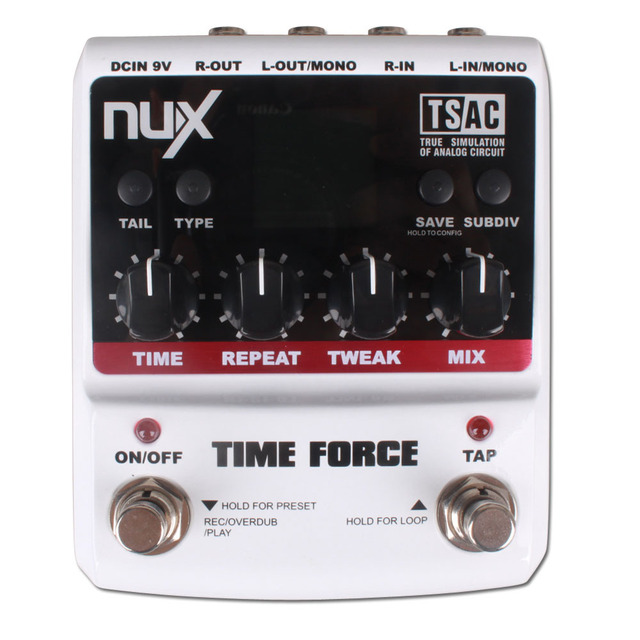 NUX Time Force Guitar Effect Pedal True Bypass musical instrument  guitar parts Free Shipping