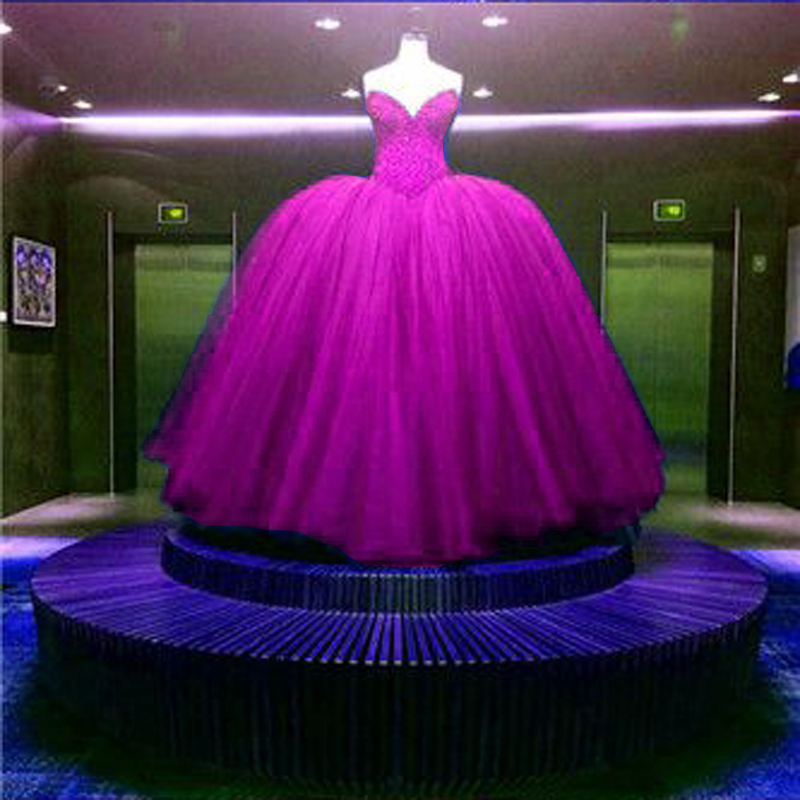 Ball Gown Wedding Dress Royal Blue Red