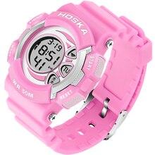 2017 HOSKA Children Digital Wristwatch Multi-functional Luminous Watch For Kids Alarm Date LED Display Sport Waterproof Waches
