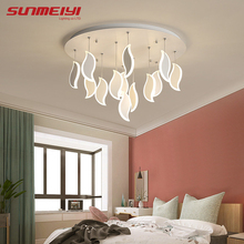 купить Modern LED Ceiling Lights Acrylic Leaves Bedroom Light Post Modern Ceiling Lamp For Living room Kitchen Cafe Bar Home Fixtures по цене 8609.69 рублей