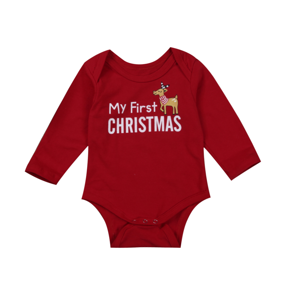 christmas cute baby boys girl romper infant newborn baby letter deer Romper Cotton baby Jumpsuit 1st xmas baby boy girl clothing