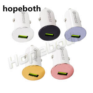 Hopeboth Car-Charger Mobile-Phone-Adapter iPhone Qc-3.0 Xiaom Mini-Usb Universal