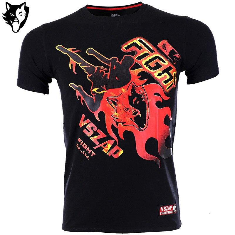 MMA VSZAP T-shirts Ultimate Fighting Championship Men T Shirt Cotton T Shirt Fight Tops Boxing T-Shirt Men Fighter