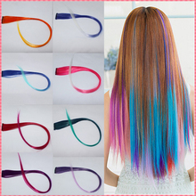 Gradient arrive pieces cosplay synthetic extensions clip in color long fashion