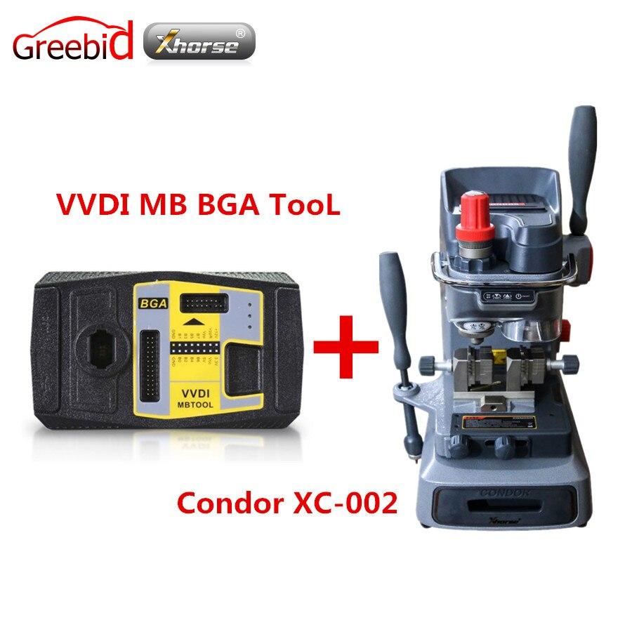 Оригинал Xhorse V2.1.7 VVDI MB BGA инструмент в том числе BGA калькулятор Функция плюс механический ключ резки Кондор XC 002