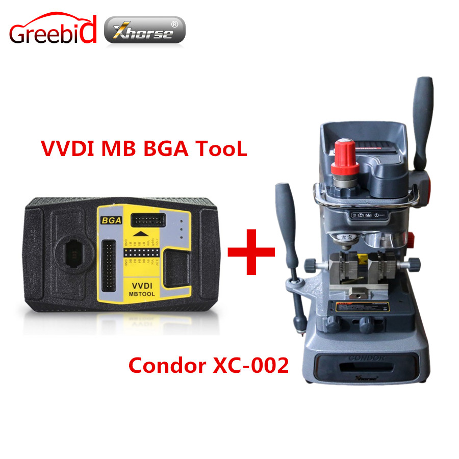 все цены на Original Xhorse V2.1.7 VVDI MB BGA TooL Including BGA Calculator Function Plus Mechanical Key Cutting Machine CONDOR XC-002 онлайн