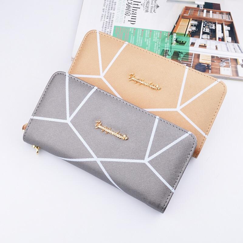 Valink 2017 Famous Brand Geometric Designs Long Wallets Ladies Fashion Women Zipper Wallet Hand Bag Clutches Carteira Feminina 4