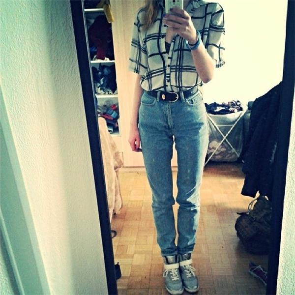 19 korean style women pencil denim pants high waist jeans woman casual vintage jeans boyfriend mom jeans light blue streetwear 15