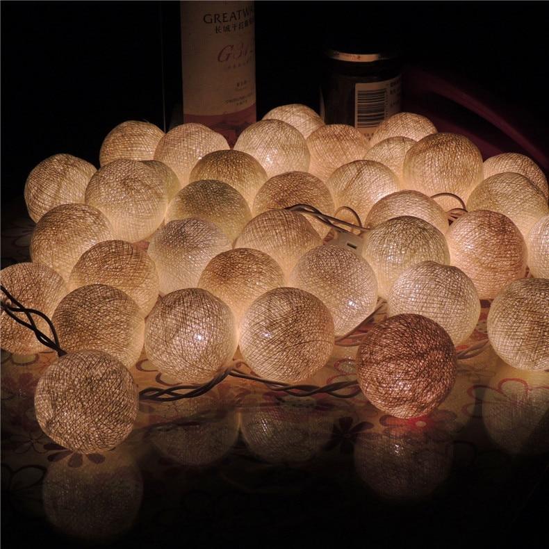 Lampe boule de coton lumières de noël télécommande LED lampe de poche festival célébration scène magasin lampe décorative chaîne