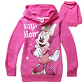 6 pieces/lot 2016 Fashion baby Cartoon clothing Girls Minnie Mouse clothes baby 100% cotton shirts 1pcs Children Clothing