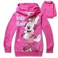 6 unids/lote 2016 moda bebé clothing girls minnie mouse ropa del bebé 100% algodón de dibujos animados camisetas 1 unids niños clothing