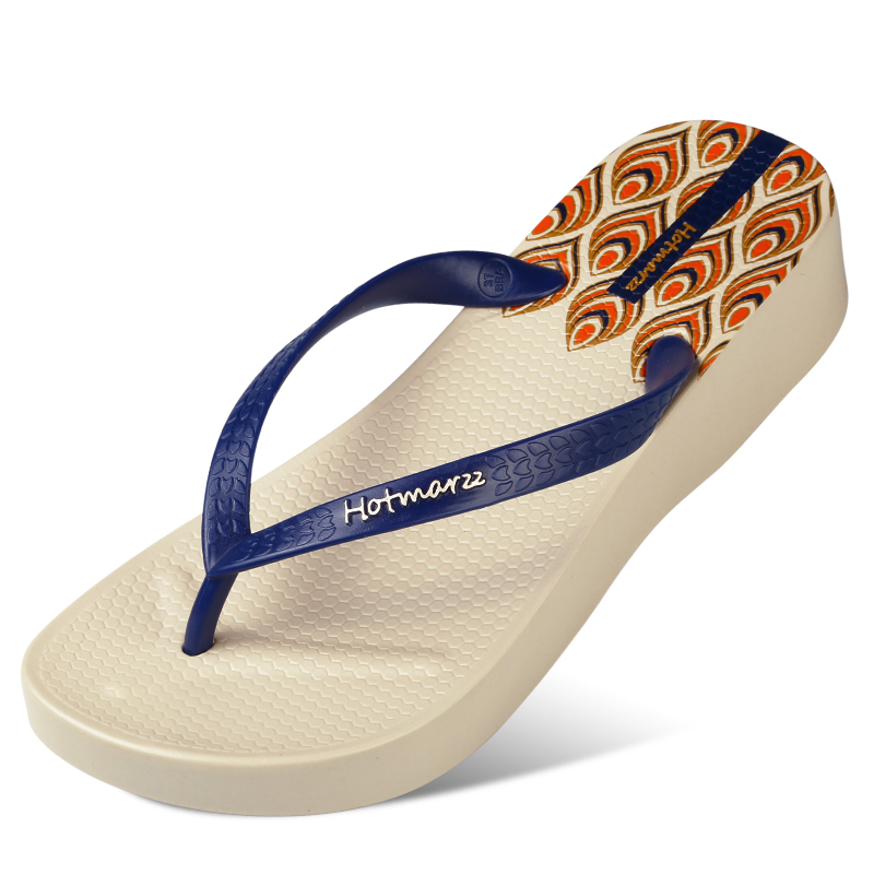 Hotmarzz Mujer Plataforma de tacón alto Chancletas Cuñas Zapatillas - Zapatos de mujer - foto 3