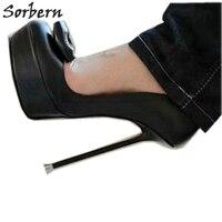 Sorbern Эрогенные женские см туфли лодочки на высоком тонком металлическом каблуке 14 см 16 см с бантиком в китайском стиле, размеры 32 52, туфли на