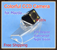 Waterproof Special 4LED CCD Car Rear view camera Reverse Backup Parking Camera for Mazda 2 Mazda 3