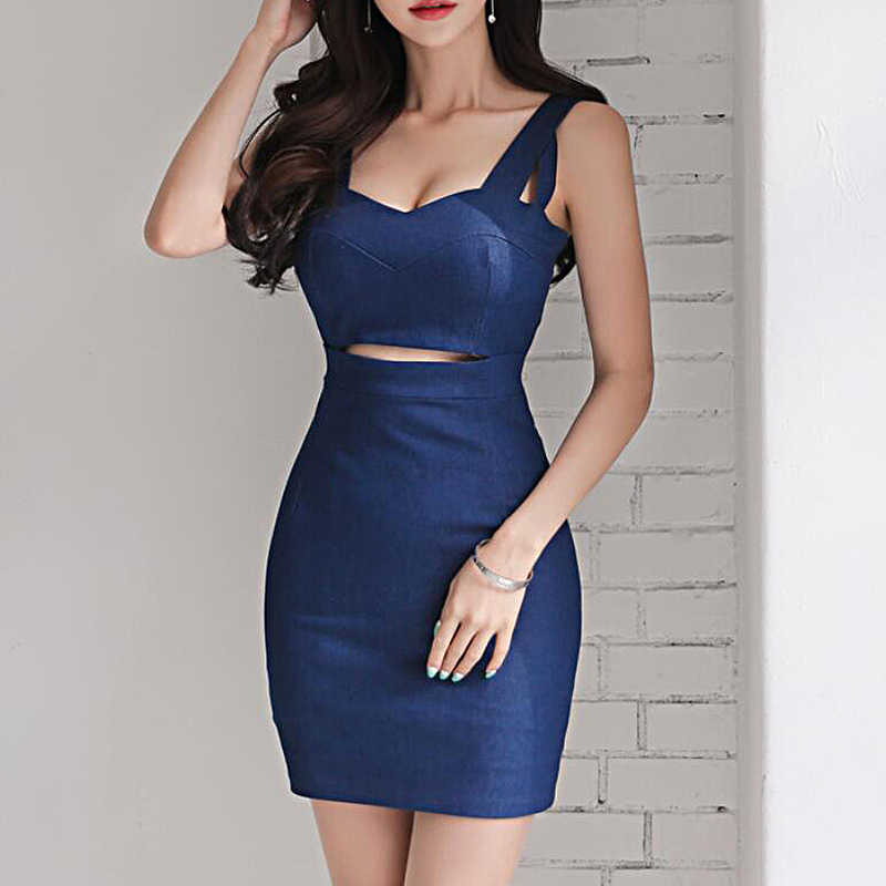 912bc568dc curvy elegant summer denim dress women casual sexy bodycon pencil ladies  dresses vestidos verano office mini
