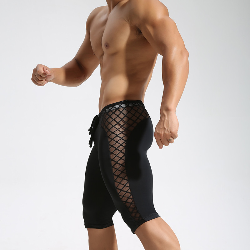 Men's Fitness Mesh Patchwork   Shorts  ,Men's Quick-Dry   Short   Pants,Men's Leggings,Men's   Shorts