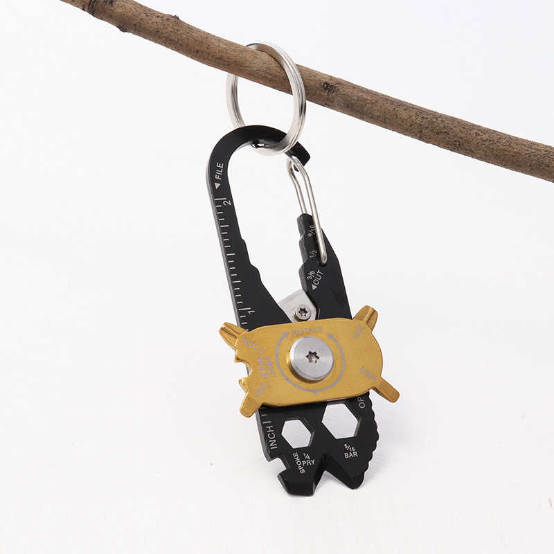Pro 20-in-1 ชุดประแจ Multifunctional Mini Universal Key Survival Kit สแตนเลสแคมป์ปิ้ง Survival EDC เครื่องมือชุดเดินทาง