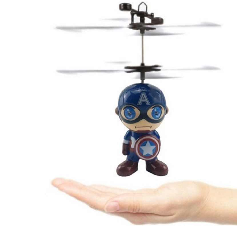 Mini Fly Flashing helicopter Hand Control RC Toy induction mini Helicopter Quadcopter RC Drone Ar.dron with LED Toys For Kids