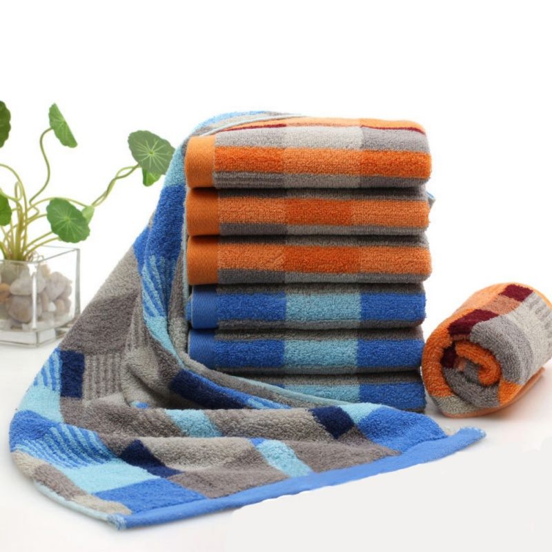 Bamboo Cotton Solid Bath Towel For Adults Fast Drying Soft 35X75CM 2 Colors Thick Beach Towel High Absorbent Antibacterial