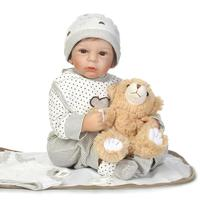 bebe Reborn Baby Doll 50cm alive reborn bonecas 100% handmade Lifelike soft Body Silicone with Pacifier and bottle