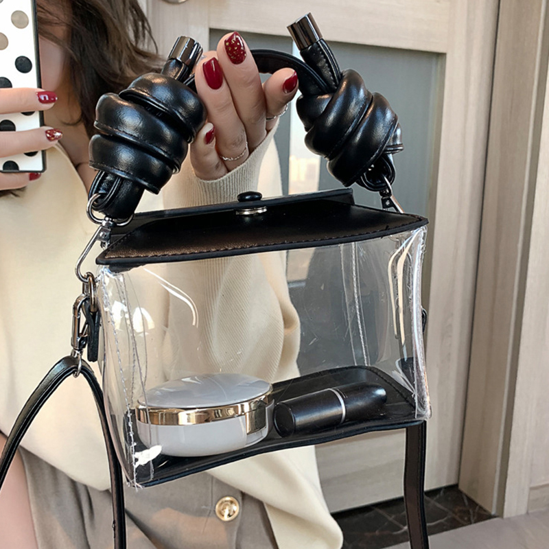 Diinovivo New Fashion Women Transparent Bag Clear PVC Jelly Bags Laser Holographic Shoulder Bag Crossbody Bags For Women DNV0958