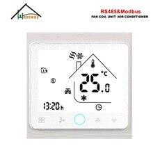 HESSWAY 3 Speed RS485 RTU MODBUS smart room thermostat 24vl AC95-240V for 2 Pipe fan coil unit стоимость
