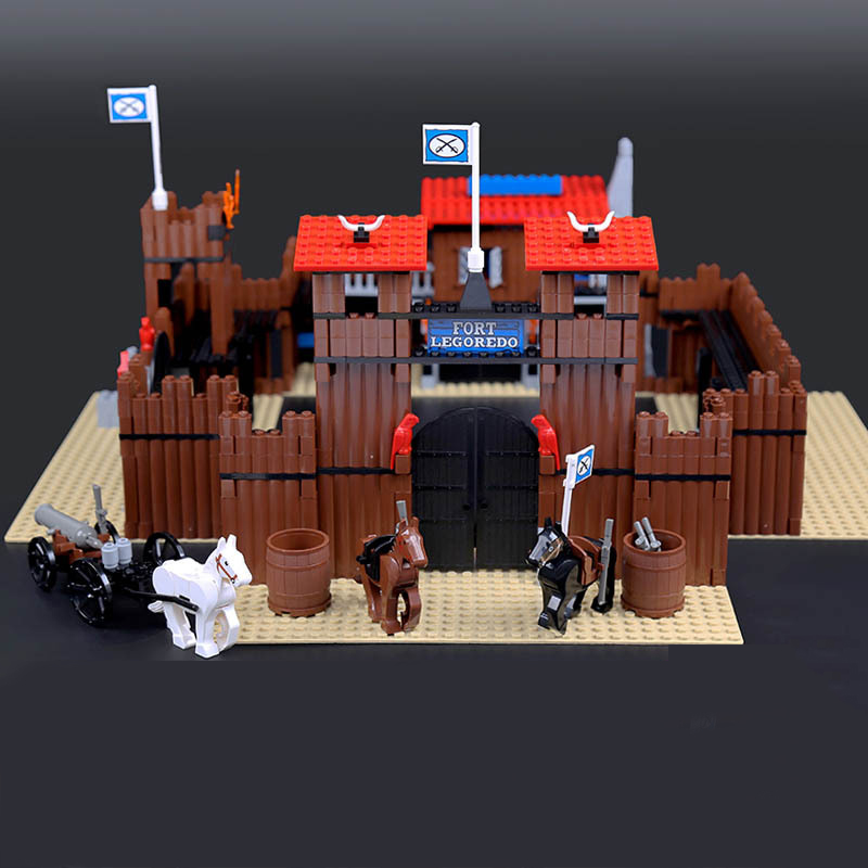 Lepin 33001 Western The Idian Cowboy`s Castle Building Blocks Bricks Toys Legoed 6769 Blocks for Children Christmas Gifts Toys pamela britton a cowboy s christmas wedding