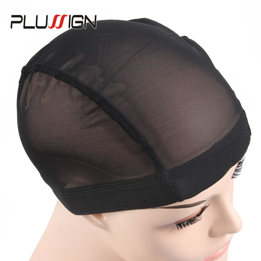 Plussign 1PC Mesh Wig Cap Dome Style Black Color Average Size Wholesale Glueless Stretchable Elastic Hair Weaving Net Cap