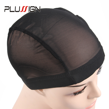 Plussign 1PC Mesh Wig Cap Dome Style Black Color Average Size Wholesale Glueless Stretchable Elastic Hair Weaving Net - discount item  31% OFF Hair Tools & Accessories