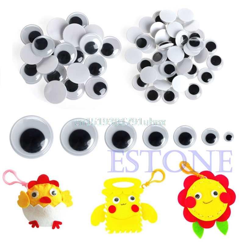 520x6-20 мм обучающий аксессуар Wiggly Wobbly Googly Eyes самоклеющиеся предметы для скрапбукинга смешанные
