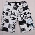 Mens tabla corta más el tamaño 44 de los hombres boardshort bermudas masculina trajes de baño playa pant tamaño 42 del traje de baño pantalones cortos para hombres MW05