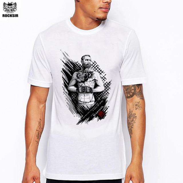 e3458fd2 Rocksir brand+New Arrival T shirt Men MMA Tee shirts Conor Mcgregor Printed  Ringer t-shirt men funny men boy clothing camisetas. Price: US ...