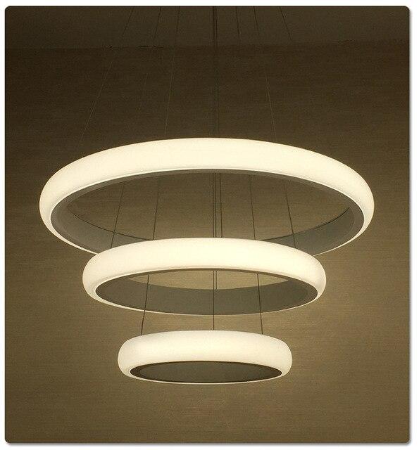 Moderne Salle À Manger LED Ronde Pendentif Éclairage LED Ovale ...