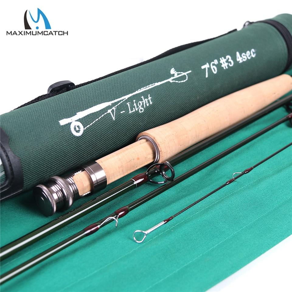 Maximumcatch V-Licht 6ft/6.6ft/7ft/7.6ft 1/2/3wt Fly Stange Graphit IM10 carbon Fiber So Licht Gewicht Fly Angelrute