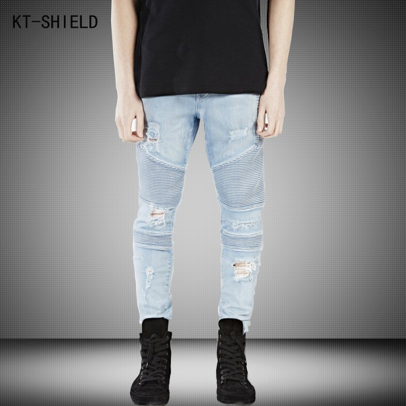 Represent Clothing Designer Pants Blue/Black Destroyed Mens Slim Denim Overalls Skinny Biker Jeans Men Ripped Jeans Homme 28-38 famous brand mens jeans straight ripped biker jeans for men zipper denim overalls men fashion designer pants blue jeans homme