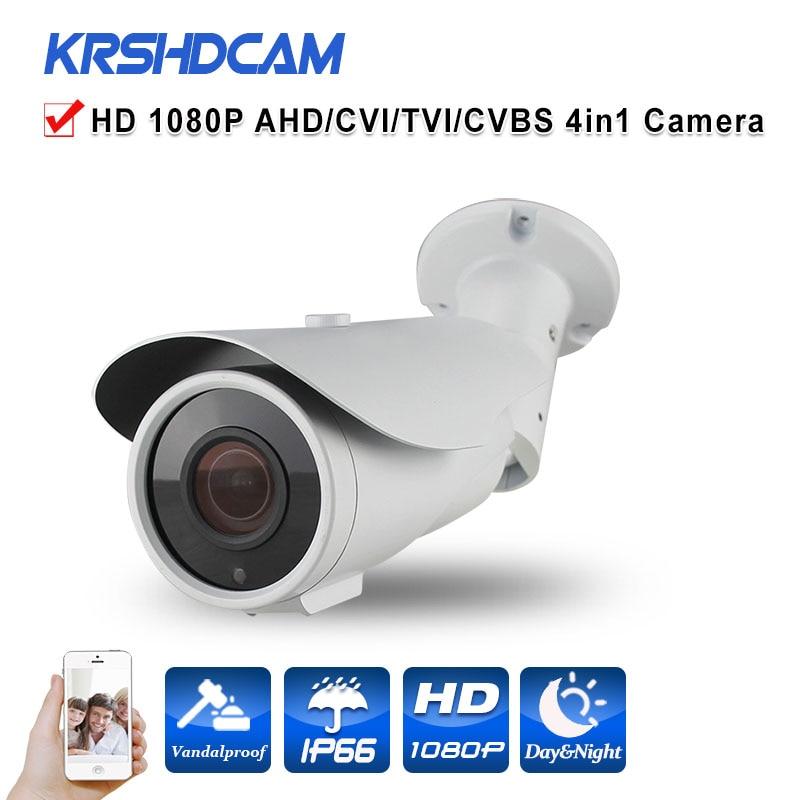 1080P 2.0MP AHD/TVI/CVI/CVBS CCTV camera 4 in 1 sony imx322 sensor zoom lens outdoor waterproof security cameras de seguranca home security 720p ahd tvi cvi cvbs 4 in 1 output video camera waterproof outdoor